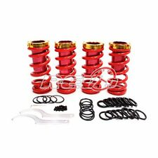 """RED/GOLD 0""""-3"""" HONDA/ACURA LOWERING SLEEVE ADJUSTABLE COILOVER SPRING SUSPENSION"""