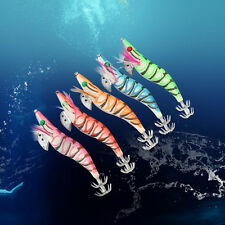 5pcs/Lot Luminous Hard Squid Bait Jig 13cm Squid Jigs Saltwater Fishing Lures EB