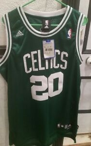 6765e84a NWT Adidas Boston Celtics Ray Allen Jersey 20 Mens Large Sewn Green ...