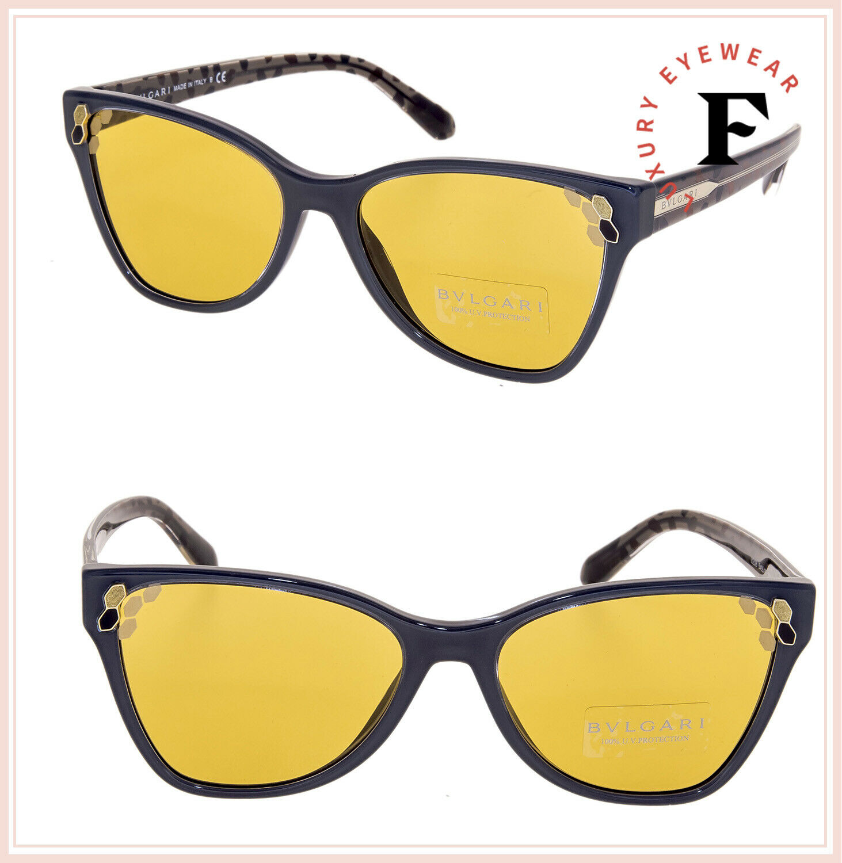 BVLGARI SERPENTI Powercandy BV8208 Grey Yellow Scales Sunglasses 8208 Authentic