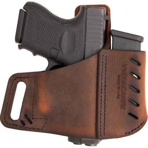Brown Versa Carry Commander OWB Holster w//Magazine Pouch for Most Pistols RH