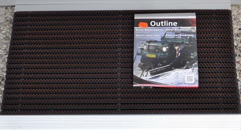Cattura sporco tappetino Spazzole Tappeto Porta Tappetino 40x60 Marronee