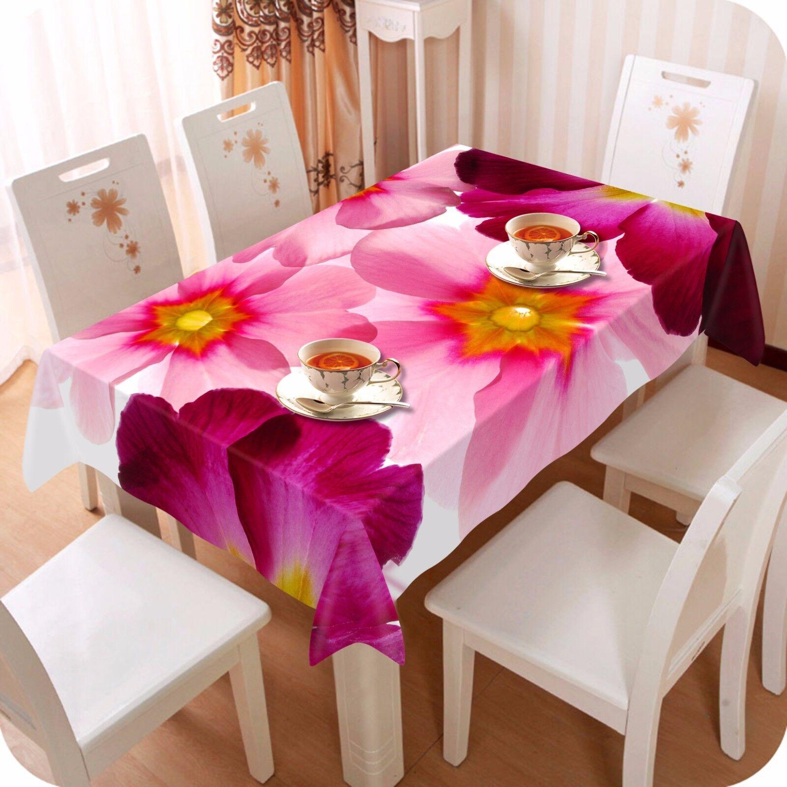 3D pétale 4 Nappe Table Cover Cloth fête d'anniversaire AJ papier peint Royaume-Uni Citron