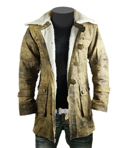 BNWT THE DARK KNIGHT RISES BANE DISTRESSED REAL LEATHER JACKET TRENCH COAT