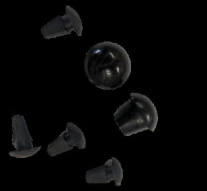 ukscooters-LAMBRETTA-REAR-FRAME-GROMMET-KIT-GP-S-1-2-3-BLACK-6-ITEMS-SMALL-BIG
