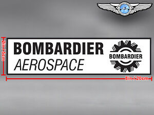 BOMBARDIER RECTANGULAR LOGO DECAL / STICKER