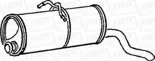 CITROEN Berlingo 1.6 16V 110bhp van MPV 00-08 Trasero Silenciador De Escape Caja posterior OEM