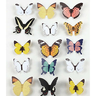 12pcs/sheet 3D Butterfly TV Background Wall Stickers Art Design Home DIY Decor