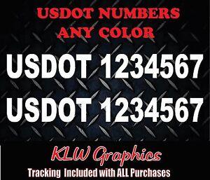 "2 UNITS US DOT # USDOT Truck Van Car Number 20""  Decal Sticker"