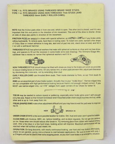 NOS NIP SCOTT MATHAUSER SUPERBRAKE FINNED PADS ROLLERCAM SIZE S MTB BMX
