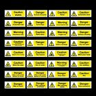 Warning / Caution / Danger / Welding / Noise - Plastic Sign, Sticker - All Sizes
