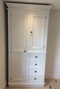 Painted Combination Wardrobe Victorian With Plinth Style Easy To Use 2 Doors & 4 Drawers