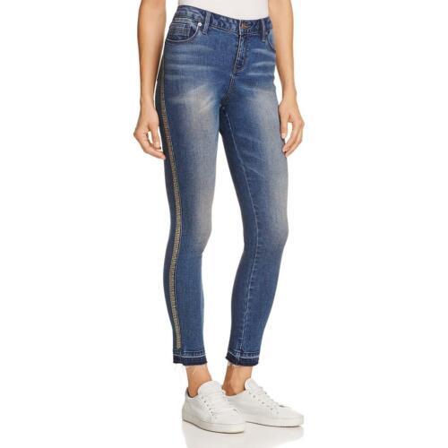 Kenneth Cole New York Womens Jess Blue Denim Mid-Rise Skinny Jeans 26 BHFO 5593