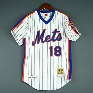 newest 424b4 1086c 100% Authentic Darryl Strawberry Mitchell & Ness 86 Mets ...