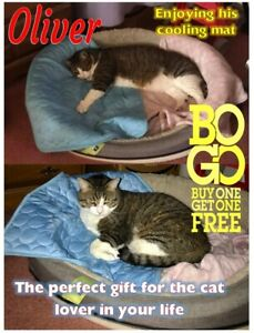 Denali Cat Cooling mat for Cats - Buy 1 get 1 free - Med. 24.4 x 19.6-inch