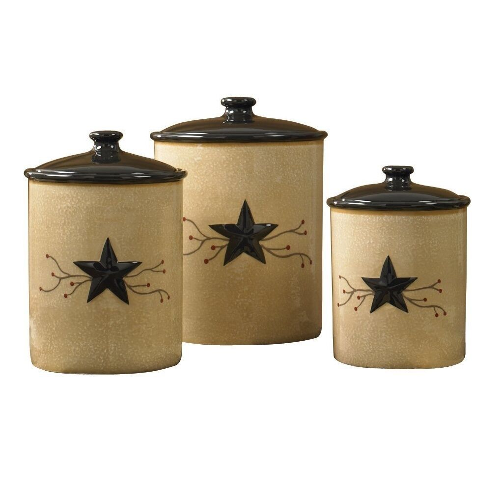 Canisters For Flour And Sugar Set Kitchen Coffee Tea Containers Storage Western