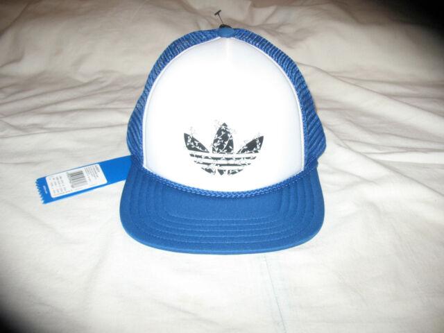 ff27b6392b9 NEW ADIDAS ORIGINALS H TRUCKER CAP Cap Baseball Hat OSFM AJ8979 BLUE  COREWHITE