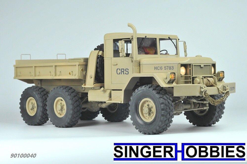 Cruz De Radio Control HC6 Off Road kit de camión militar, escala 1 10, 6x6 czrhc 6 HRP