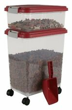 container food airtight pet storage quart large stacking fresh feed bin dog cat