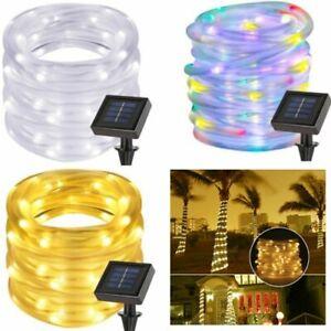 Solar-100-LED-Power-String-Fairy-Light-Rope-Tube-Lamp-Garden-Yard-Party-Decor