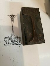 Vintage Letterpress Printing Block Ornate Beautiful Wood Block