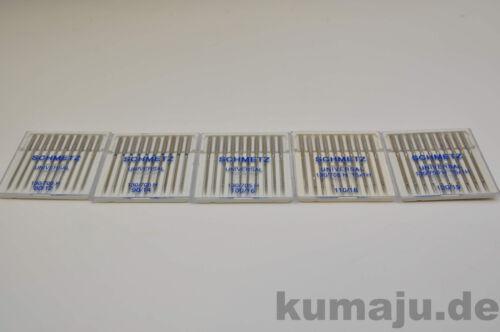 Stück 50 Stück Schmetz Universal-Nadeln 130//705 H Nadeldicke NM 90 0,32 €