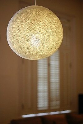 WHITE BIG COTTON BALL LAMPSHADE PENDANT LARGE CEILING LAMP HAPPY LIGHTS SNOWBALL