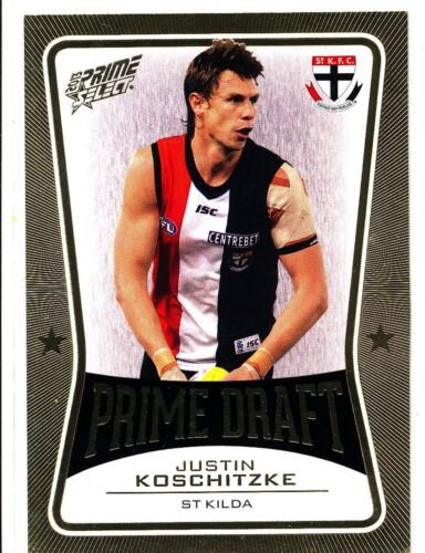 2013 AFL SELECT PRIME DRAFT GOLD Justin Koschitzke St Kilda No. 024 of 145