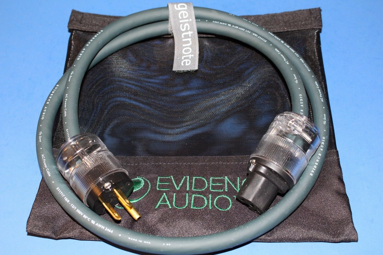 10'Power Cable  Evidence Audio Die Quelle 10 ft  FREE BAG