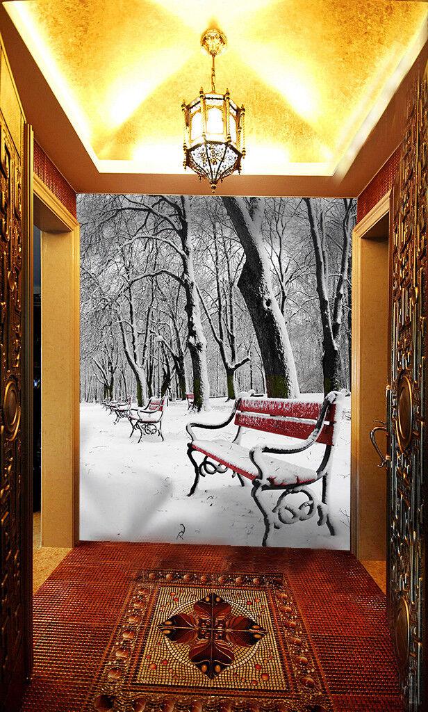3D Park Schnee Stuhl 85 Tapete Wandgemälde Wandgemälde Wandgemälde Tapete Tapeten Bild Familie DE Summer | Modern Und Elegant  42fc22