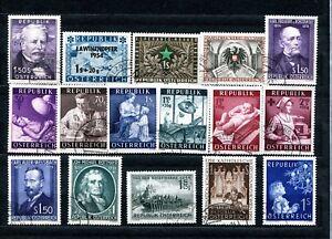 Österreich - Jahrgang 1954 / komplett gestempelt - Wert € 59,60