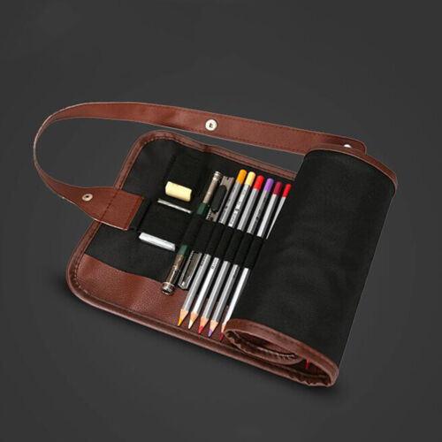 24x Set Sketch Pencils case Charcoal Extender Pencil shade Cutter Drawing Bag**