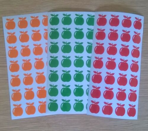APPLES Vinyl Stickers Card Craft Making Small Fruit Shapes self adhesive