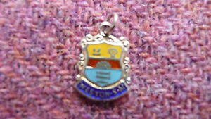 Vintage WESTON SUPER MARE Silver amp Enamel Travel Shield Charm - Scrooby, Nottinghamshire, United Kingdom - Vintage WESTON SUPER MARE Silver amp Enamel Travel Shield Charm - Scrooby, Nottinghamshire, United Kingdom