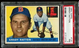 1955-Topps-Baseball-131-GRADY-HATTON-Boston-Red-Sox-PSA-7-NM