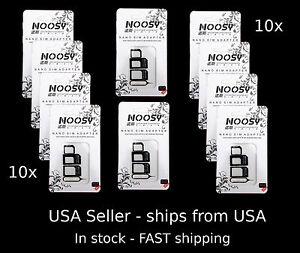 10x-Apple-iPhone-SAMSUNG-NOOSY-3-Nano-Micro-SIM-Card-Adapter-kits