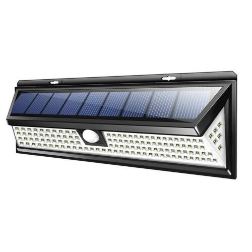 LED Lampe Solaire Projecteur Détecteur de Mouvement Jardin Extérieur Lumière