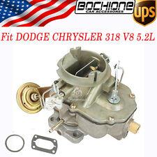 2 Barrel Carer Carburetor TF-089 Fits 1967-80 DODGE CHRYSLER 318 V8 5.2L 6 CIL