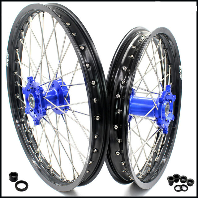 KKE 21/18 Motorcycle Spoked Wheels Rims Set for Yamaha WR250F WR450F 2003-2018