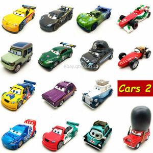 Disney-Pixar-Cars-2-Racers-World-Grand-Prix-Metal-1-55-Diecast-Toy-Car-Boy-Gift