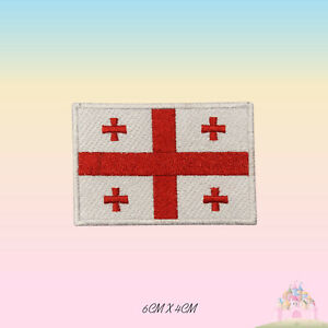 Georgia National Flag Embroidered Iron On Patch Sew On Badge