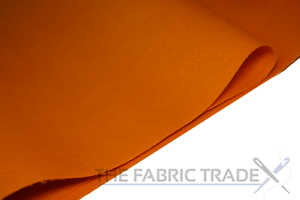 Orange Craft Felt Fabric Material 100/% Acrylic 1.5mm Thick 150cm Wide