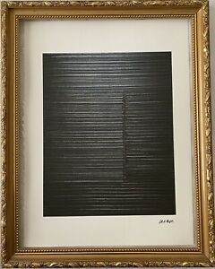 Pierre-Soulages-Lithographie-Signee-Et-Numerotee