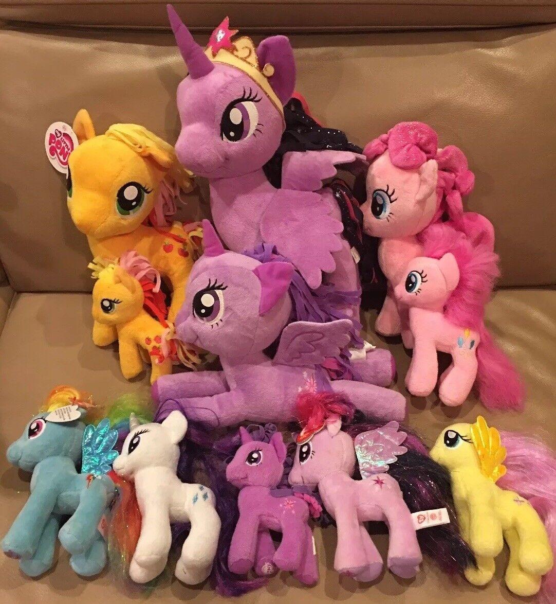 11 MY LITTLE PONY Plush LOT TY Funrise Aurora Unicorn Princess Twilight Sparkle