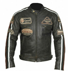 harley lederjacke motorradjacke roadstar braun retro leder. Black Bedroom Furniture Sets. Home Design Ideas