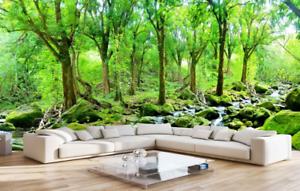 3D greener Stein Wald 74 Tapete Wandgemälde Tapete Tapeten Bild Familie DE Summer