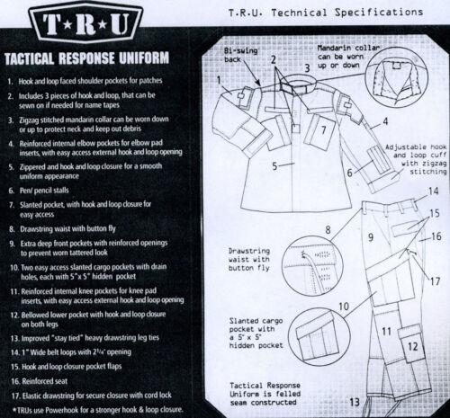 COYOTE BROWN Poly Cotton TRU-SPEC 1271 ACU Tactical Response Uniform Pant