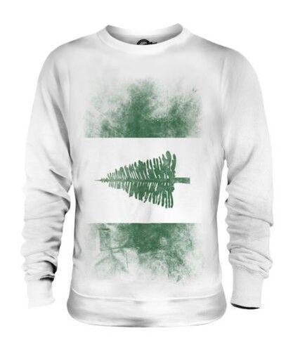 Norfolk Island Descolorido Bandera Unisex Suéter Regalo Top Camiseta Ropa Jersey