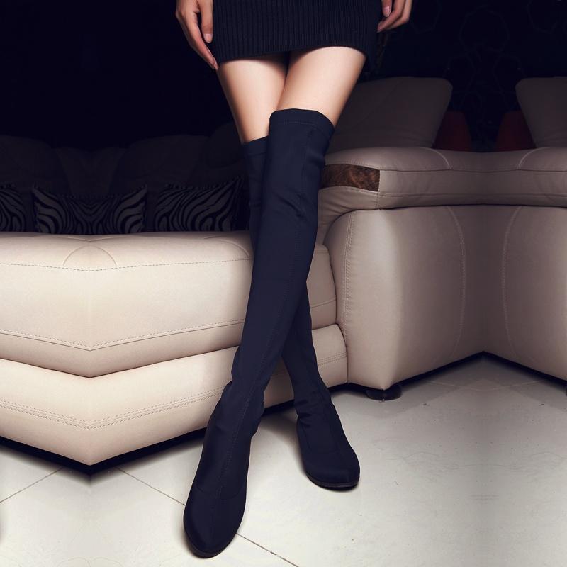 Damen Schuhe Schuhe Damen Overkneestiefel schwarz Stiefel Komfort d71906