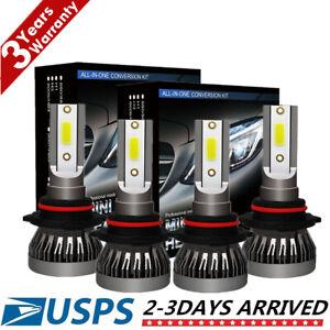 9005-9006-Combo-CREE-LED-Headlight-Bulb-Kits-High-Low-Beam-Fog-Light-6000K-White